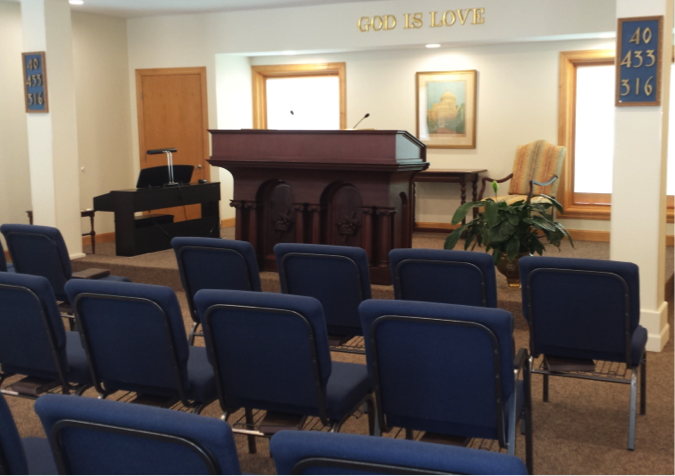 Church with chairs